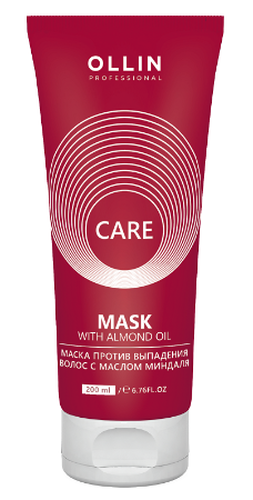 OLLIN Professional Care Almond Oil Mask - Маска против выпадения с маслом миндаля