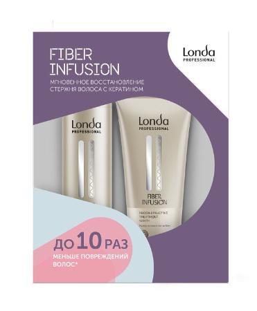 3d1b21548097a Londa Professional Fiber Infusion Набор для мгновенного восстановления  стержня волос с кератином